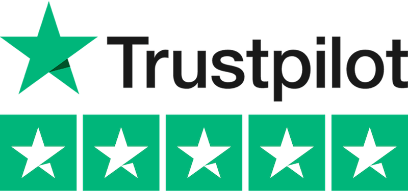 5 star rating on Trustpilot